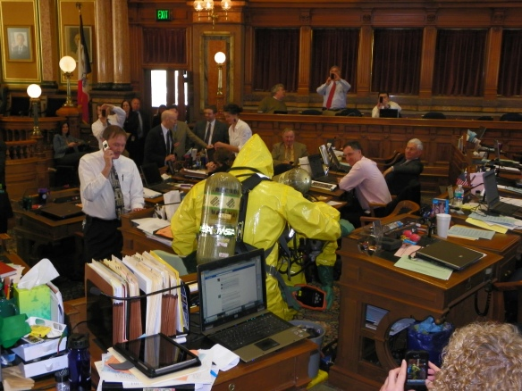 Haz-Mat in the House Chamber