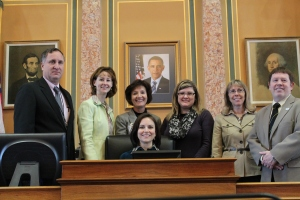 Rep. Nancy Dunkel, Sen. Tod Bowman and I met with community leaders from Dyersville: Karla Thompson, Denise Stillman, Ann Cannon and Lisa Maiers.
