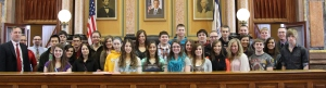 Maquoketa Valley Government Students & I in the House Chamber