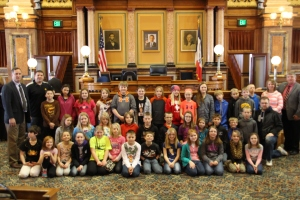 Sen. Zumbach and I with Lambert Elementary 4th graders.