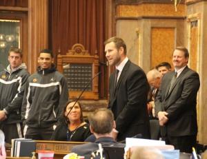 ISU head coach Fred Hoiberg addressing the House.