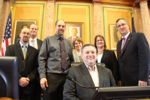 Rep. Brian Moore, Jody Martens from Bellevue, Chad and Renee Adams,  Dominic and Karren Hogan from Monticello and myself