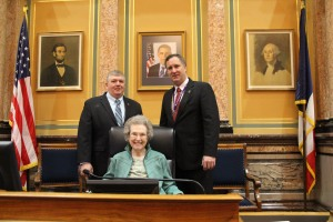 Sen. Zumbach and I with our Aunt Marie Hein
